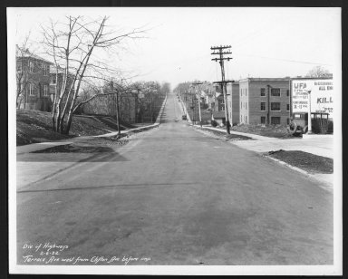 Street Improvement Photographs -- Box 29, Folder 30 (Terrace Avenue) -- print, 1932-02-06