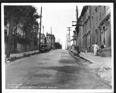 Street Improvement Photographs -- Box 29, Folder 31 (Third Street) -- print, 1936-08-10