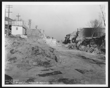 Street Improvement Photographs -- Box 29, Folder 31 (Third Street) -- print, 1936-12-01
