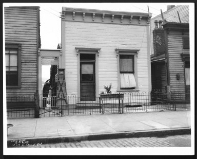 Street Improvement Photographs -- Box 29, Folder 31 (Third Street) -- print, 1936-06-26