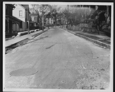 Street Improvement Photographs -- Box 29, Folder 40 (Tusculum Avenue) -- print, 1928-03-22