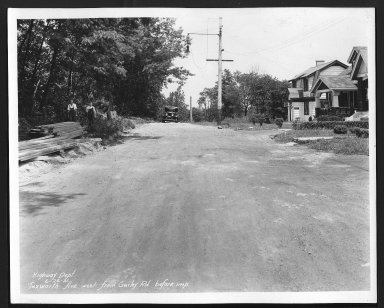 Street Improvement Photographs -- Box 29, Folder 43 (Tuxworth Avenue) -- print, 1931-06-26