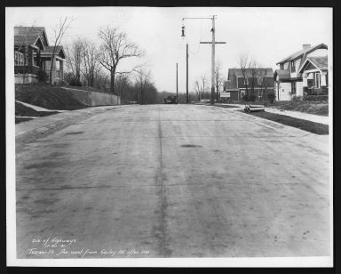Street Improvement Photographs -- Box 29, Folder 43 (Tuxworth Avenue) -- print, 1931-11-30