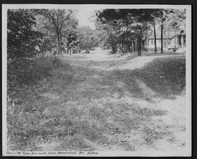 Street Improvement Photographs -- Box 29, Folder 45 (Tyne Avenue) -- print, 1928-10-02
