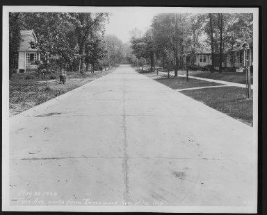 Street Improvement Photographs -- Box 29, Folder 45 (Tyne Avenue) -- print, 1929-05-22