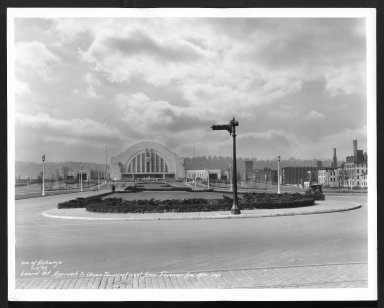 Street Improvement Photographs -- Box 29, Folder 46 (Union Terminal Approach) -- print, 1933-11-04
