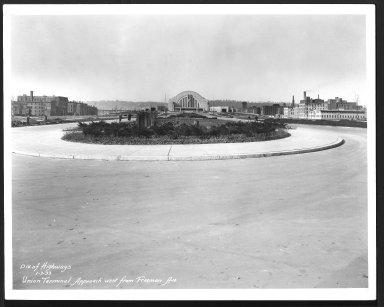Street Improvement Photographs -- Box 29, Folder 47 (Union Terminal Approach) -- print, 1933-01-07