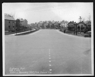 Street Improvement Photographs -- Box 29, Folder 55 (Victory Parkway) -- print, 1929-11-07