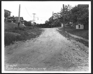 Street Improvement Photographs -- Box 29, Folder 57 (Vinedale Avenue) -- print, 1930-05-23