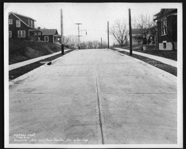 Street Improvement Photographs -- Box 29, Folder 57 (Vinedale Avenue) -- print, 1931-02-06