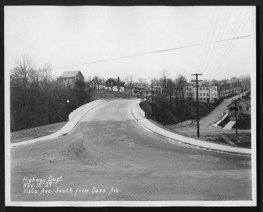 Street Improvement Photographs -- Box 29, Folder 60 (Vista Avenue) -- print, 1929-11-15