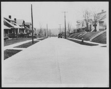Street Improvement Photographs -- Box 29, Folder 62 (Wall Terrace) -- print, 1932-01-25