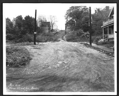 Street Improvement Photographs -- Box 29, Folder 66 (Warner Street) -- print, 1928-05-18