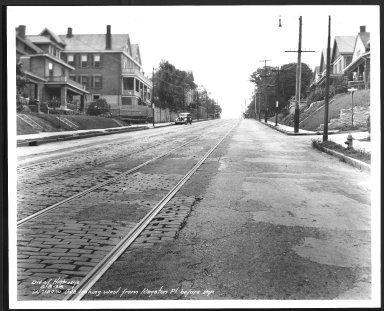 Street Improvement Photographs -- Box 29, Folder 70 (Warsaw Avenue) -- print, 1938-08-08
