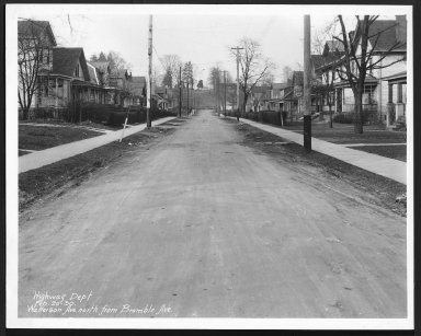 Street Improvement Photographs -- Box 30, Folder 01 (Watterson Avenue) -- print, 1930-02-20