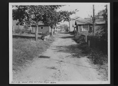 Street Improvement Photographs -- Box 30, Folder 03 (Weipul Alley) -- print, 1928-10-10