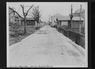 Street Improvement Photographs -- Box 30, Folder 03 (Weipul Alley) -- print, 1929-01-21