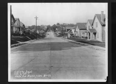 Street Improvement Photographs -- Box 30, Folder 04 (Wells Street) -- print, 1929-10-02