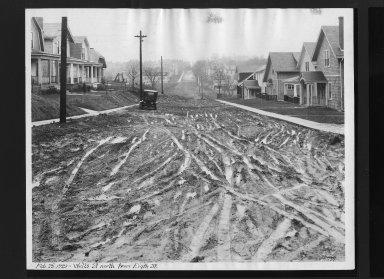 Street Improvement Photographs -- Box 30, Folder 04 (Wells Street) -- print, 1929-02-25
