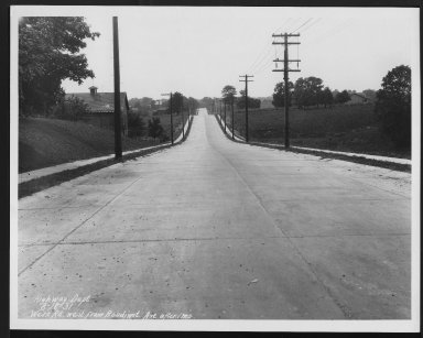 Street Improvement Photographs -- Box 30, Folder 06 (Werk Road) -- print, 1931-08-18