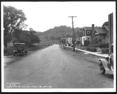 Street Improvement Photographs -- Box 30, Folder 10 (West Fork Road) -- print, 1934-06-04