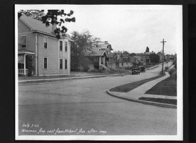 Street Improvement Photographs -- Box 30, Folder 15 (Wieman Road) -- print, 1927-07-07