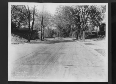 Street Improvement Photographs -- Box 30, Folder 19 (Wilson Avenue) -- print, 1929-09-27