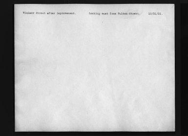 Street Improvement Photographs -- Box 30, Folder 20 (Windsor Street) -- print, 1921-10-21 (back of photograph)