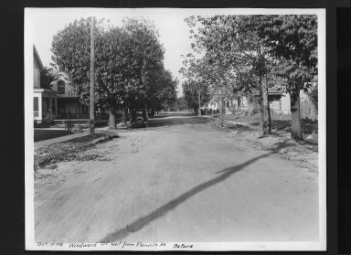 Street Improvement Photographs -- Box 30, Folder 21 (Windward Street) -- print, 1928-10-11
