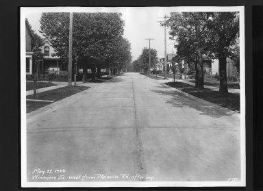 Street Improvement Photographs -- Box 30, Folder 21 (Windward Street) -- print, 1929-05-22