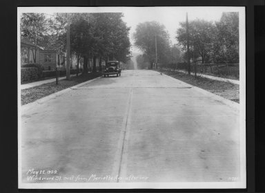 Street Improvement Photographs -- Box 30, Folder 21 (Windward Street) -- print, 1929-05-22