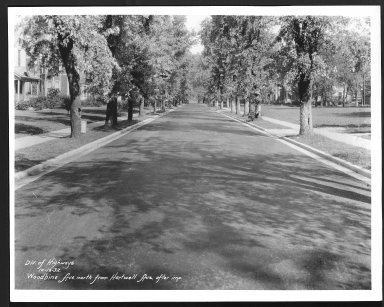 Street Improvement Photographs -- Box 30, Folder 24 (Woodbine Avenue) -- print, 1932-10-16