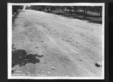 Street Improvement Photographs -- Box 30, Folder 27 (Woodburn Avenue) -- print, 1926-06-30