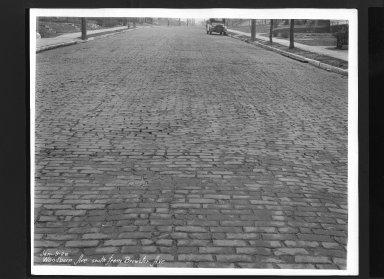 Street Improvement Photographs -- Box 30, Folder 27 (Woodburn Avenue) -- print, 1928-01-09