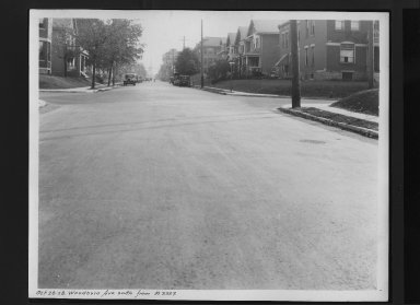 Street Improvement Photographs -- Box 30, Folder 27 (Woodburn Avenue) -- print, 1928-10-26