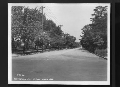 Street Improvement Photographs -- Box 30, Folder 28 (Woodburn Avenue) -- print, 1926-06-30