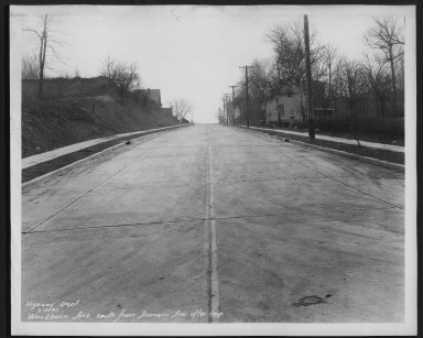 Street Improvement Photographs -- Box 30, Folder 28 (Woodburn Avenue) -- print, 1931-02-07