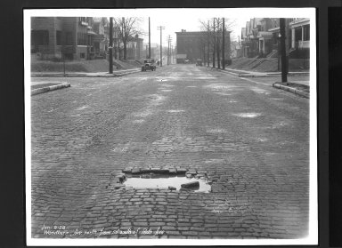 Street Improvement Photographs -- Box 30, Folder 29 (Woodburn Avenue) -- print, 1928-01-09