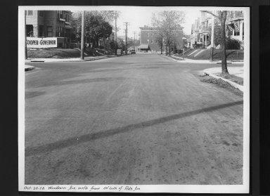 Street Improvement Photographs -- Box 30, Folder 29 (Woodburn Avenue) -- print, 1928-10-26