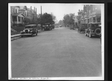 Street Improvement Photographs -- Box 30, Folder 29 (Woodburn Avenue) -- print, 1928-10-26