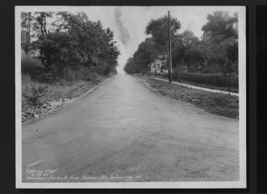 Street Improvement Photographs -- Box 30, Folder 29 (Woodburn Avenue) -- print, 1930-08-23