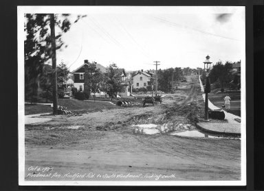 Street Improvement Photographs -- Box 30, Folder 32 (Woodmont Avenue) -- print, 1926-10-04