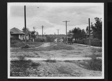 Street Improvement Photographs -- Box 30, Folder 35 (Woodmont Avenue (South)) -- print, 1926-10-04