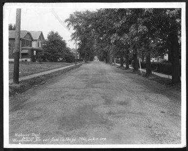 Street Improvement Photographs -- Box 30, Folder 36 (Woodsdale Avenue) -- print, 1930-06-10