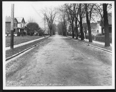 Street Improvement Photographs -- Box 30, Folder 36 (Woodsdale Avenue) -- print, 1930-10-29