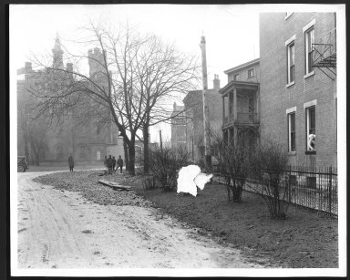 Street Improvement Photographs -- Box 30, Folder 38 (Workhouse Service Road) -- print, 1929