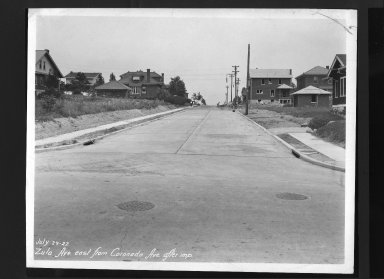 Street Improvement Photographs -- Box 30, Folder 43 (Zula Avenue) -- print, 1927-07-29