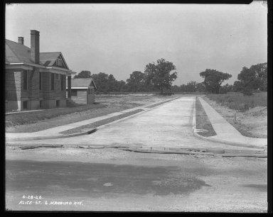 Street Improvement Photographs -- Box 31, Folder 01 (Alice Street) -- negative, 1926-06-28