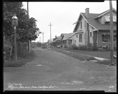 Street Improvement Photographs -- Box 31, Folder 02 (Ambrose Avenue) -- negative, 1926-09-24