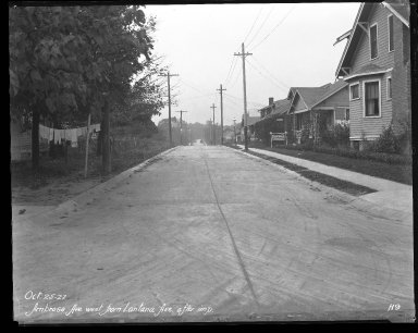 Street Improvement Photographs -- Box 31, Folder 02 (Ambrose Avenue) -- negative, 1927-10-25